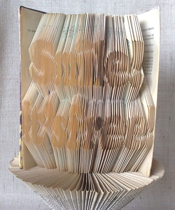 Book folding pattern and FREE Tutorial  Smile by PatternsStore