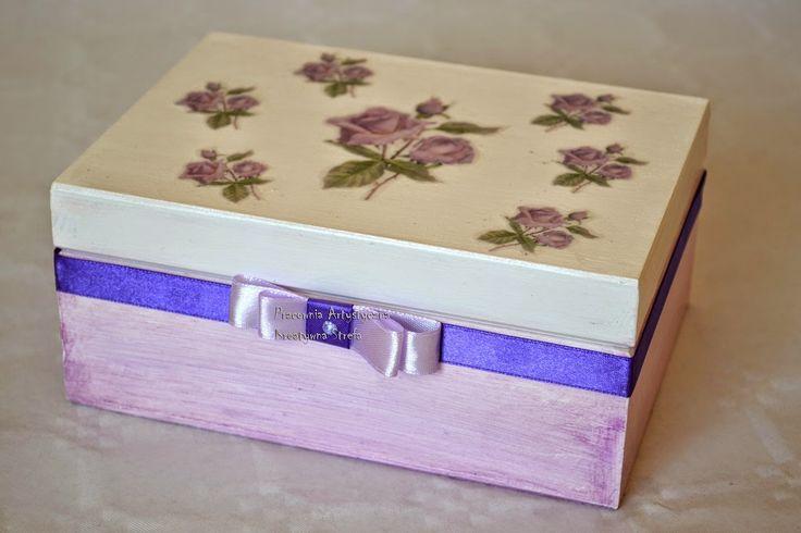 Pracownia Artystyczna Kreatywna Strefa: Jagodowe pudełko z różyczką