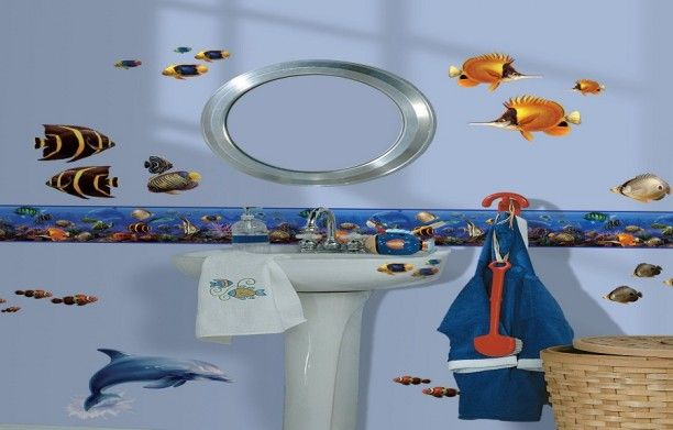 The 25 best wallpaper borders for bathrooms ideas on for Discount bathroom wallpaper