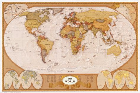 232 best carte du monde images on pinterest cards worldmap and map of the world posters allposters gumiabroncs Images