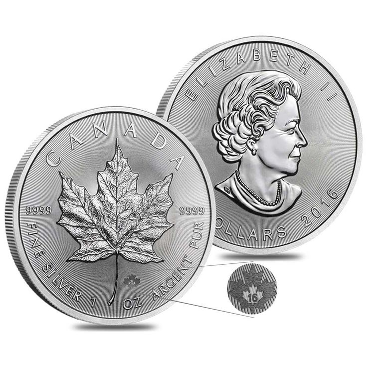 canadian maple leaf silver coins - 736×736