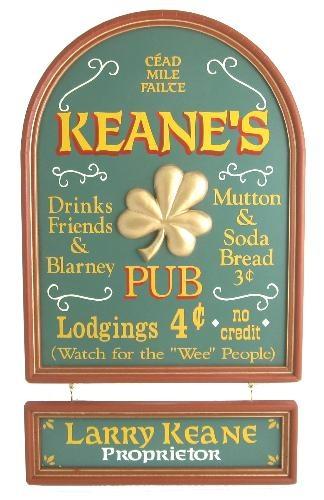Custom Irish Pub Bar Sign