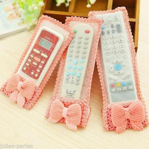 JP 1PC Cloth Lace Air Conditioning TV Remote Control Protective Cover and Dust