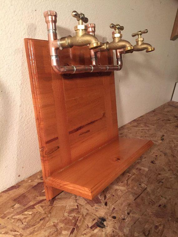Triple Wall Mount Liquor Dispenser With Shelf by ManMadeForManCave