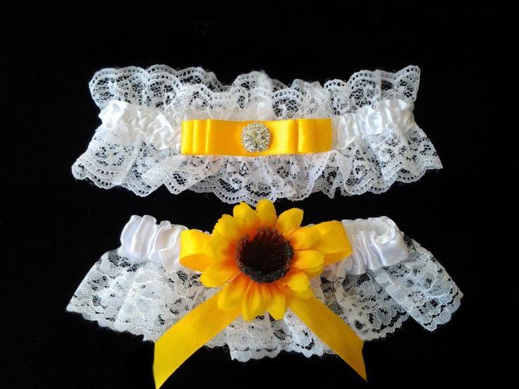 Sunflower Garter Wedding Idea