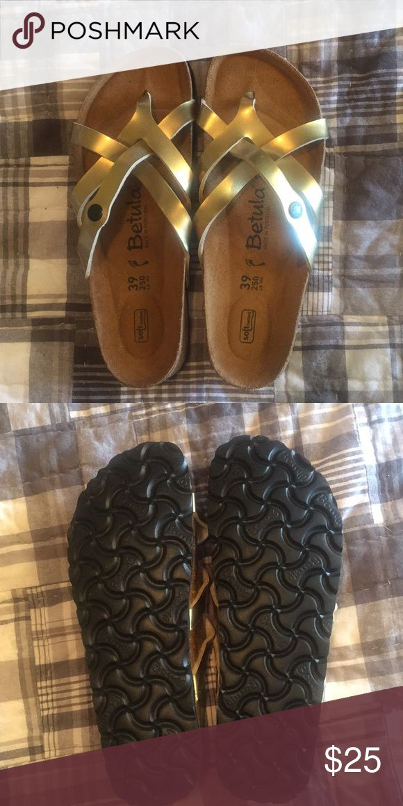 Betula sandals size 9. Never worn. These sandals are very cute, but I thought I was buying Birkenstocks. Never worn betula Shoes Sandals