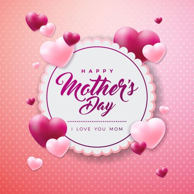 Mother Flower Happy Mom Day Background Vector Illustration Heart Mommy Card Gi Valentine Card Template Mother S Day Greeting Cards Happy Mother S Day Greetings