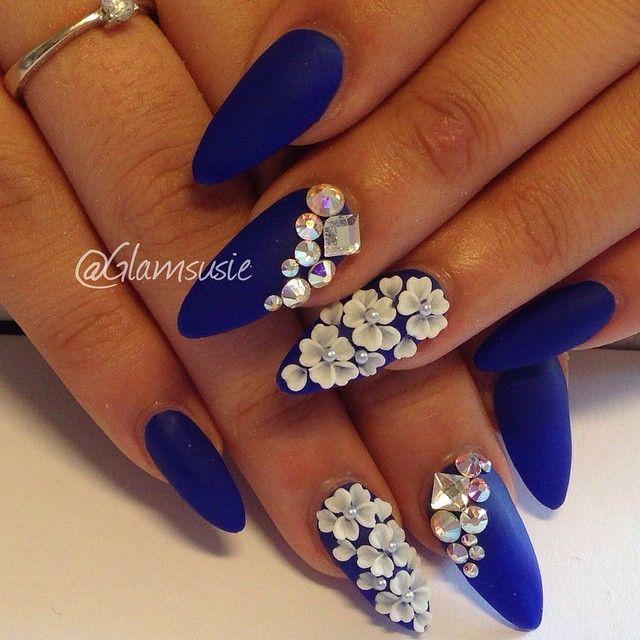 Nail Art Blue Floral: The 25+ Best Ideas About 3d Flower Nails On Pinterest
