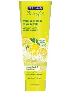 Freeman Feeling Beautiful Facial Clay Mask, Mint and Lemon, 6 Ounce