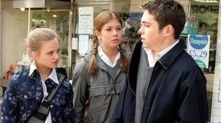 Sarah Louise Platt (Tina O'Brien), Candice Stowe (Nikki Sanderson) & Todd Grimshaw (Bruno Langley) (2003)