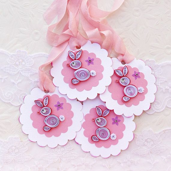 Tags Easter Paper Quilled Gift Hang Favor by EnchantedQuilling