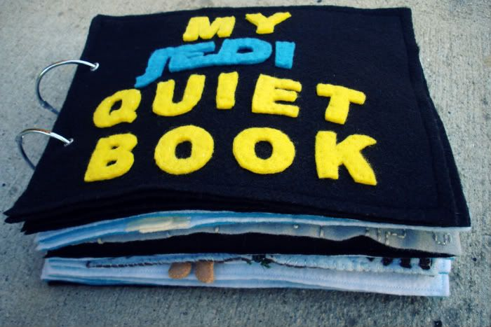 Star Wars quiet book.  No intention of making this but it is too cute.