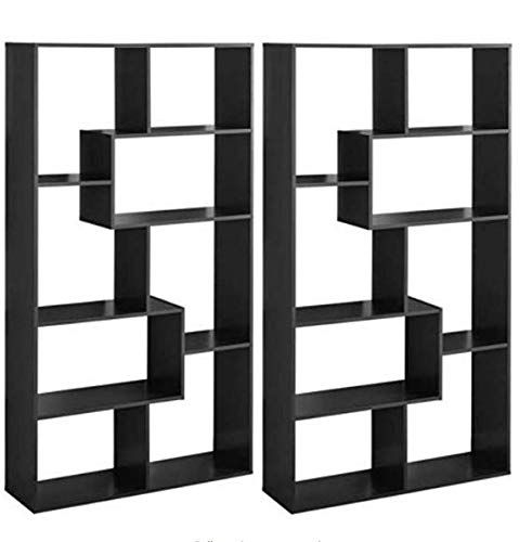 Mainstay Home 8 Shelf Bookcase Espresso Set Of 2 Furniture