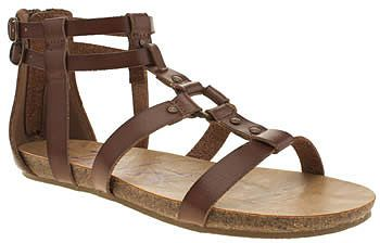 Womens dark brown blowfish brown gotten sandals from Schuh - £45 at ClothingByColour.com