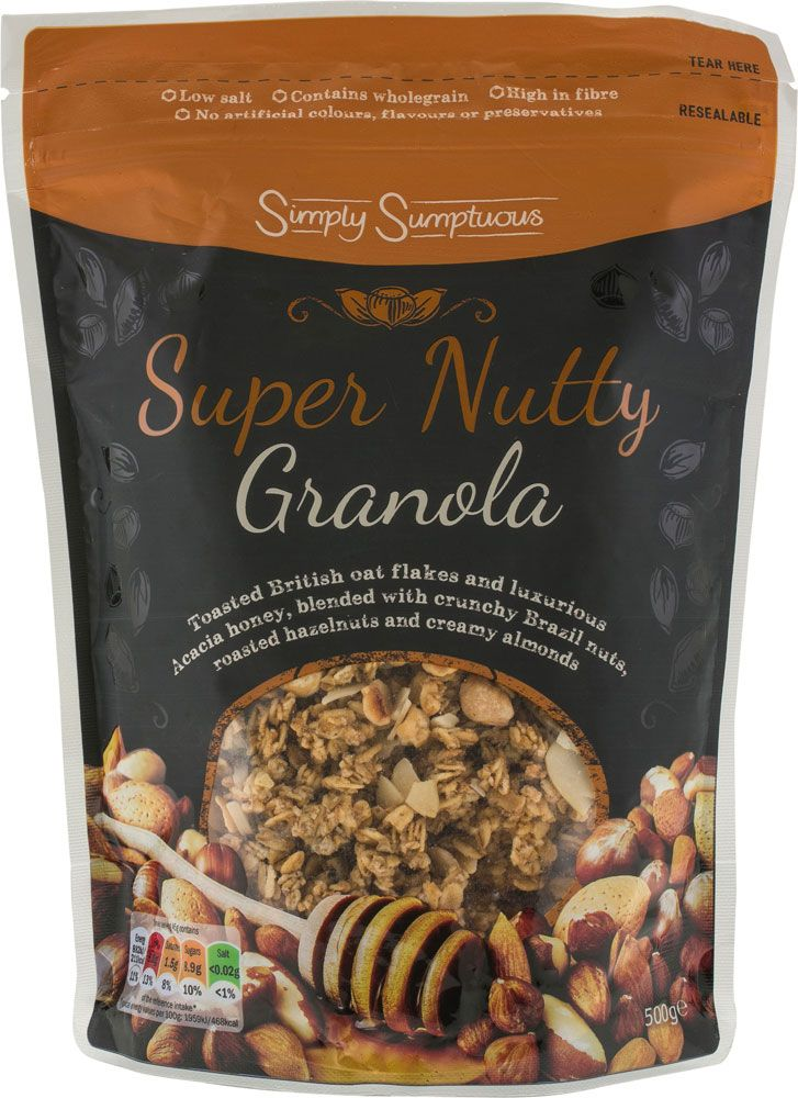 compare and buy online lidl simply sumptuous premium granola super nutty 500g from lidl using mysupermarket groceries to granola roasted almonds grocery shop compare and buy online lidl simply