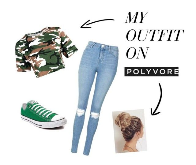 """Untitled #1"" by nina-zajc on Polyvore featuring Topshop and Converse"