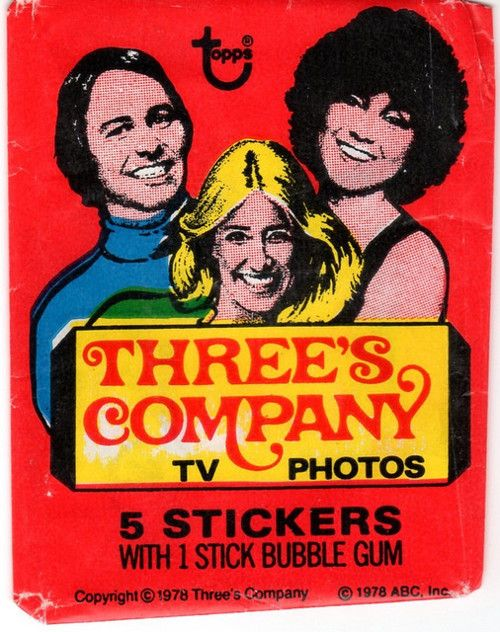 Three's Company. I actually have these! No joke the portrait cards are all 'Beautiful Chrissy', 'Hilarious Jack' and then just 'Janet'. They must have hated her!