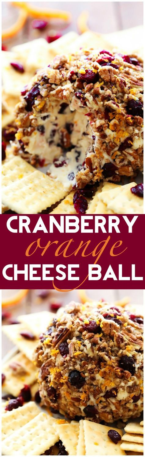 Cranberry Orange Cheese Ball… This recipe is PERFECT for the holidays! Packed with delicious seasonal flavor, this appetizer is absolutely delicious and super simple to make! It will quickly become a new favorite! Entela