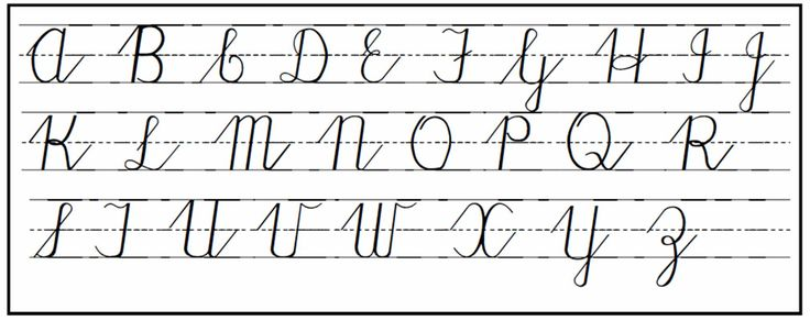 Remember learning cursive and that paper with the dotted line in the middle so small and large letters would be correct