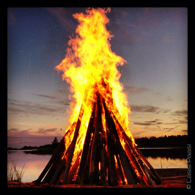 Our midsummer bonfire