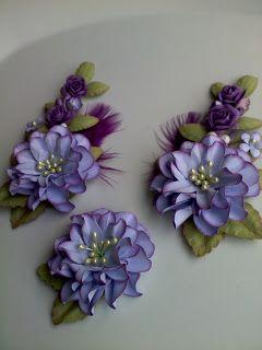 Anna Fearer paper flower spray - flores de papel
