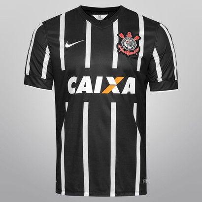 Camisa Nike Corinthians II 14/15 s/nº - Preto+Branco