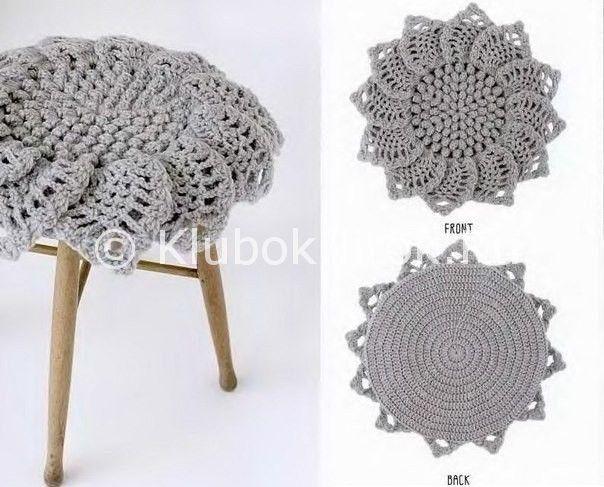 Подушка-цветок | Вязание крючком | Вязание спицами и крючком. Схемы вязания.