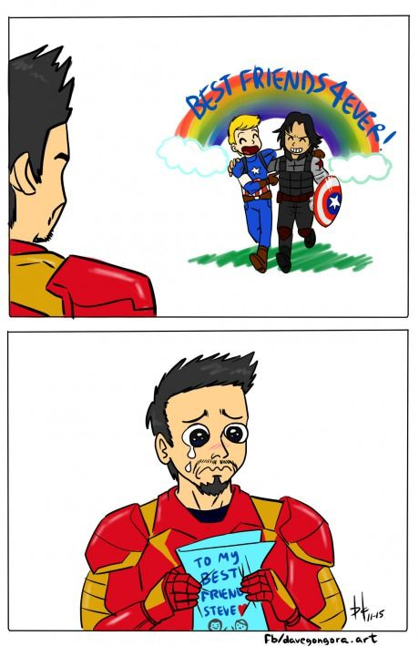 Civil War trailer in a nutshell- Oh, poor Tony! you still have Bruce... I'm sure he'll be back