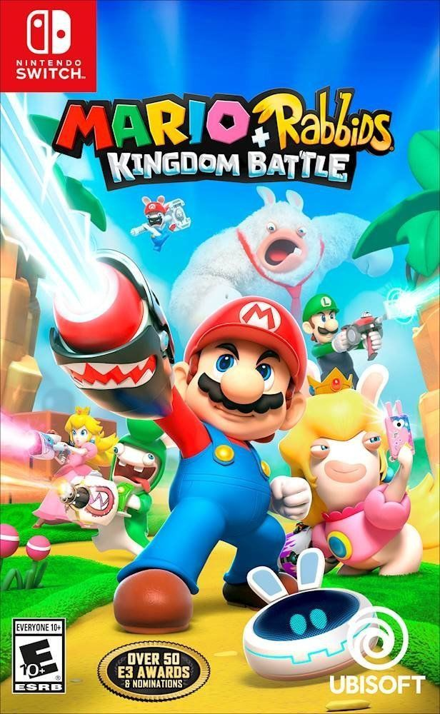 New Mario Rabbids Kingdom Battle Nintendo Switch Free Shipping