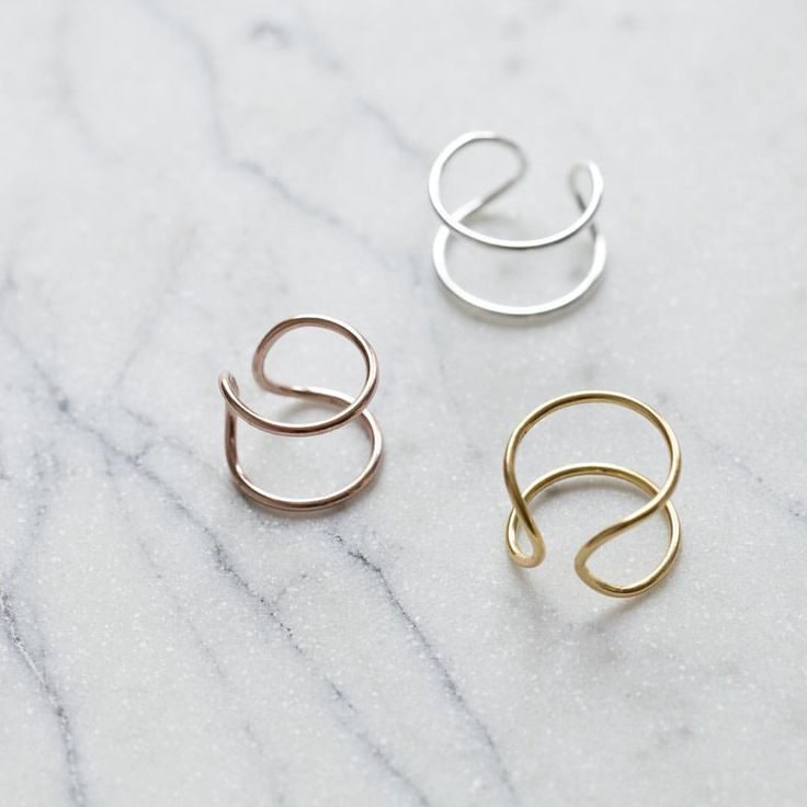 The Cusp Sydney double ring in 18ct gold, rose gold and silver www.theadorncollective.com.au/collections/rings/products/cusp-double-ring-in-silver-gold-or-rose-gold #jewellery #ring #cuspsydney #sydney #rosegold #gold #silver #fashion #style #theadorncollective