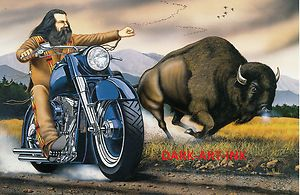 David Mann Motorcycle Art | David-Mann-Art-Motorcycle-Poster-Sturgis-Buffalo-Print-Easyriders ...