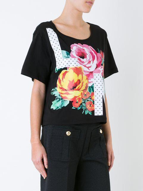 Love Moschino укороченная футболка