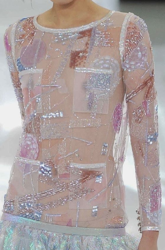 "PRINTS, PATTERNS AND SURFACE EFFECTS FROM S/S 2014 FASHION COUTURE COLLECTIONS / 2 From Paris, some details of ""couture"" collection by Chanel."