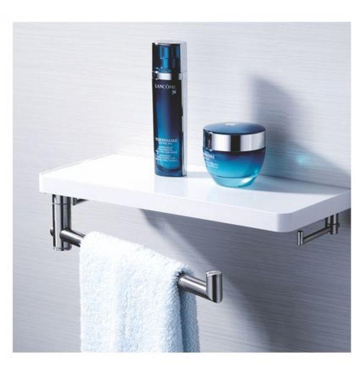 Doxwater® Bathroom Towel Rack Shelf With Towel Ring Hook,towel Rack
