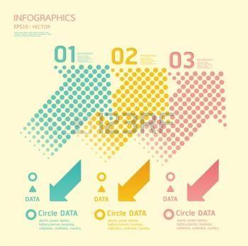 インフォグラフィック: ドット矢印柔らかい色のインフォ グラフィック番号バナーのグラフィックや web サイトのレイアウトを使用できます。