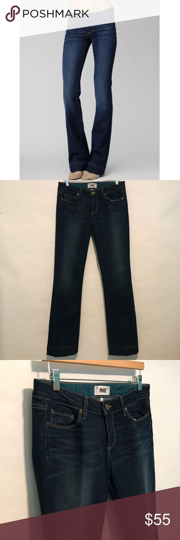 NWOT • Paige • Penny Jeans NWOT Penny Jeans. Dark wash. Straight leg. So cute! Size 29. PAIGE Jeans Straight Leg