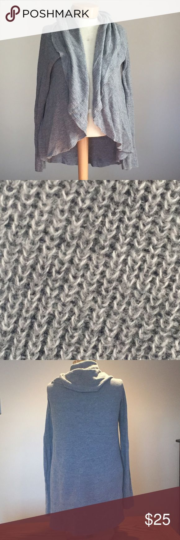 """Express grey cotton cardigan. Size medium. Like new Express grey cotton cardigan. Size medium.  29"""" long (in the back) Express Sweaters Cardigans"""