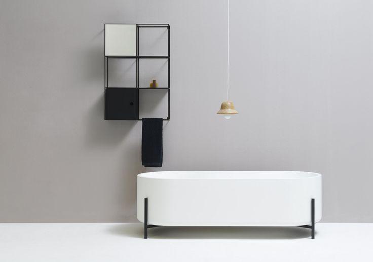 Vasca da bagno centro stanza in Livingtec® Collezione Stand by Ex.t | design NORM ARCHITECTS
