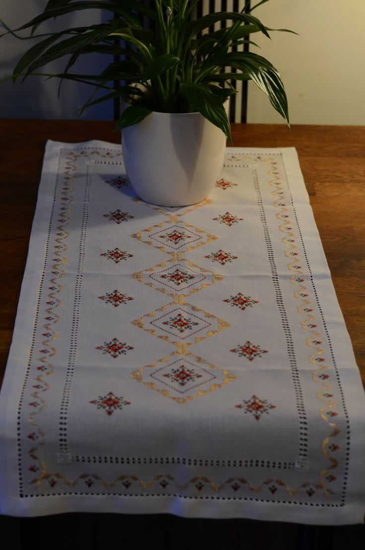 Ukrainian Traditional Table Runner   Hand Embroidered   Dorizhka By  LilyandStitchinUK On Etsy
