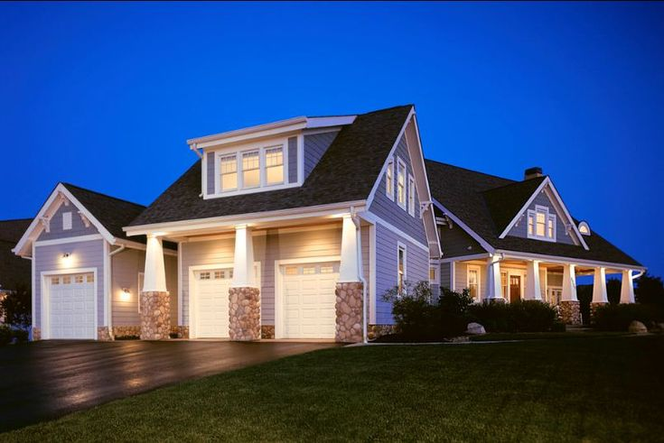 Front Elevation Bonus Rooms : Traditional architecture inspired detached garages