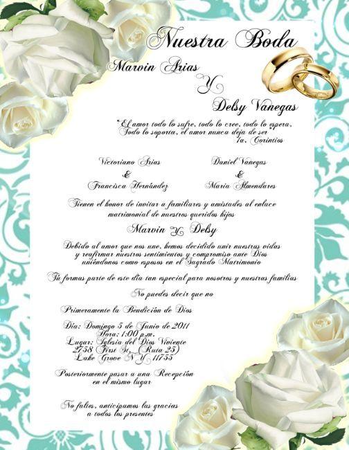 Resultado de imagen para plantillas para invitaciones de boda word ...