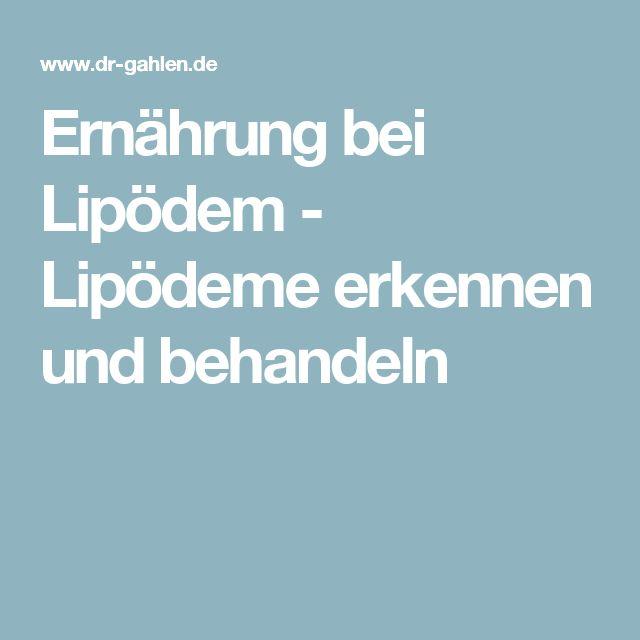 Ernährung bei Lipödem - Lipödeme erkennen und behandeln