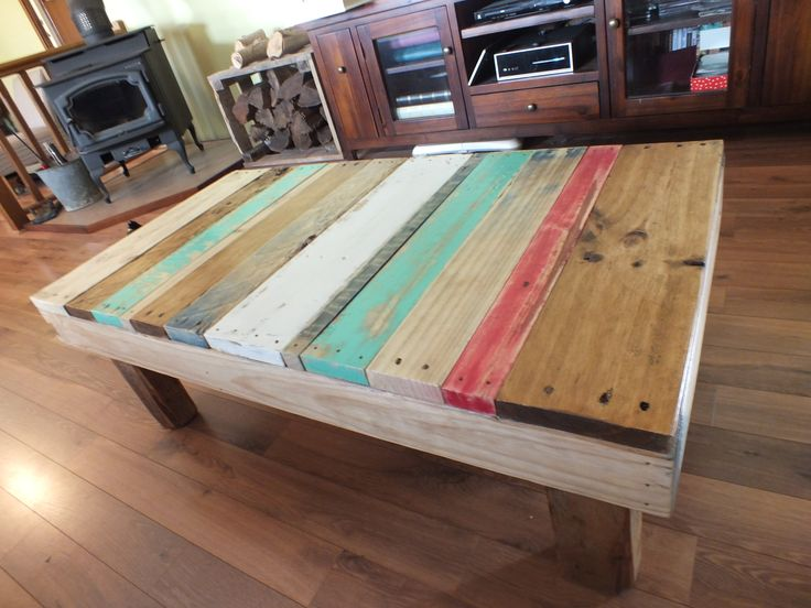 Funky beach style coffee table made from pallets
