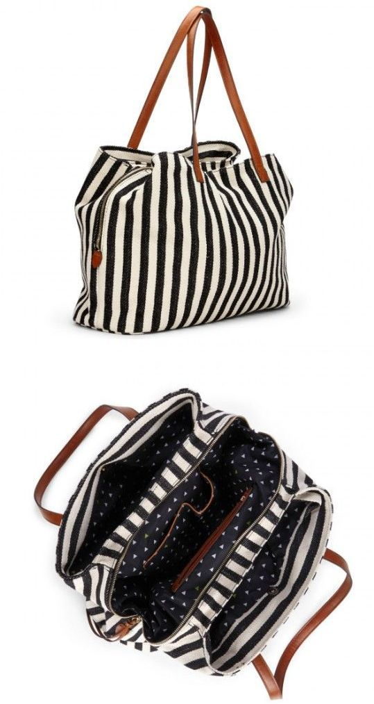 Millie Striped Oversize Tote