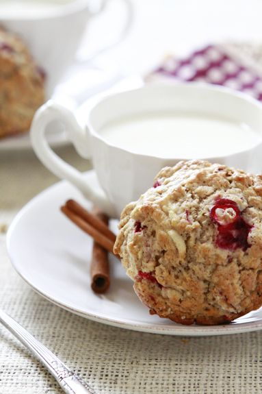 Apple Cranberry Oatmeal Muffins Recipe Breads, Breakfast and Brunch with flour, quick