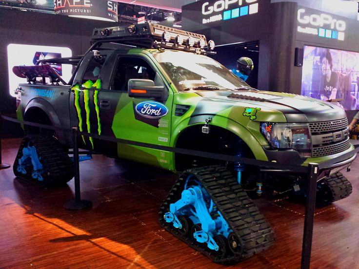 Lifted 2015 F150 >> Ken Block Monster Energy Ford F-150 RAPTORTRAX @ #GoPro #