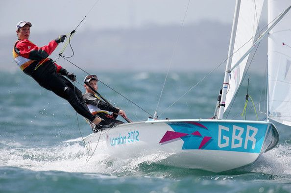 Luke Patience Luke Patience (R) and Stuart Bithell of Great Britain compete in the Men's 470 Sailing on Day 8 of the London 2012 Olympic Gam...