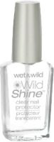 Wet n Wild Wild Shine Clear Nail Protector. Seriously a great product! I don't use it as my main top coat, but i do put a coat of it over my OPI top coat and it creates a great shine!! And you can't go wrong, it's 99 cents at the most. You can find it any corner drug store :)