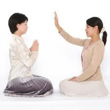 Two Women Sharing Divine Light to Main Soul - Point 8