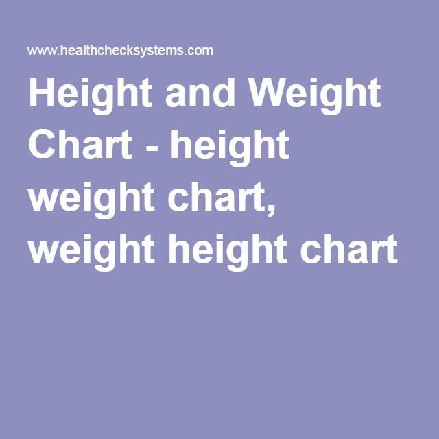 Height and Weight Chart - height weight chart, weight height chart